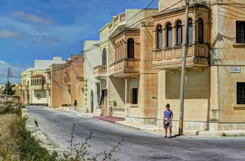 Part of the coastal hike takes you through the streets of small towns like Santa Luċija.