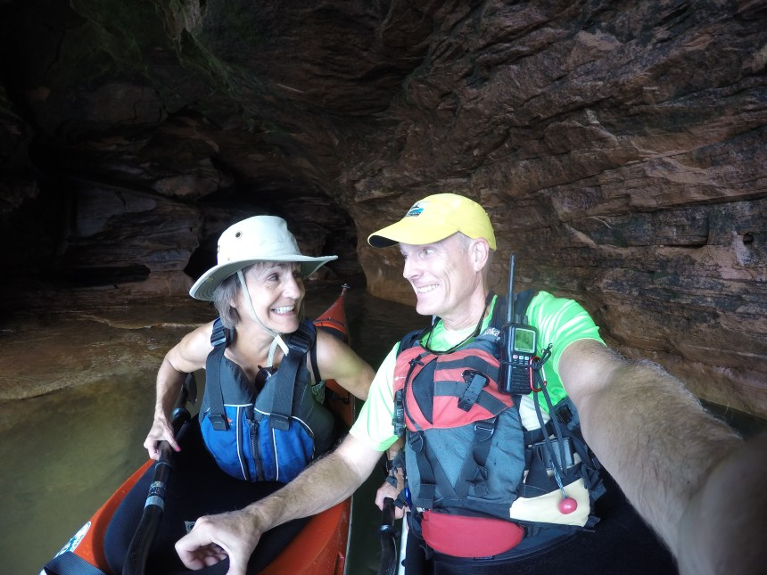 Mary and I were happy to enjoy the beauty of thes caves.