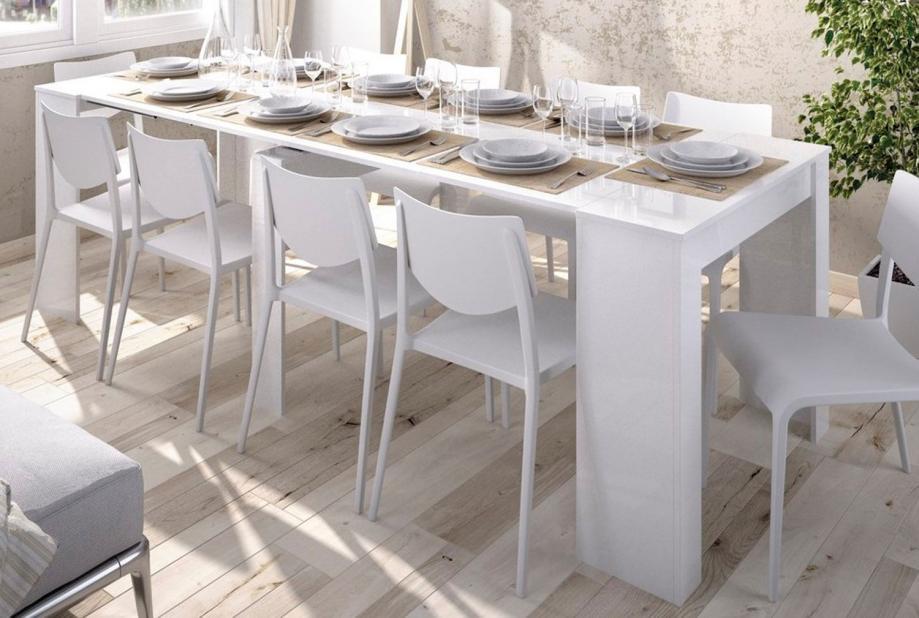 Mesas de comedor  Liquidatodo  Mesa consola extensible