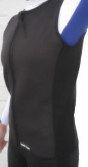 women's 21/mm wetsuit vest, full front zipper