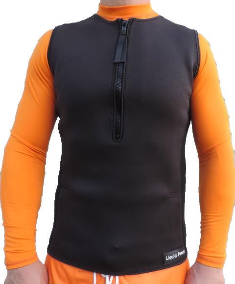 1ada2bce0b Men's 2.5mm Wetsuit Vest, Pullover, Half- Zip - Liquid Peace