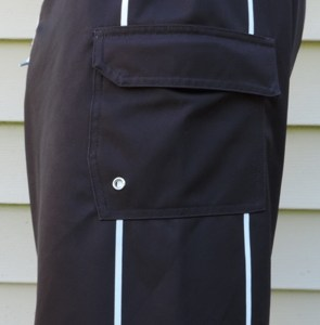 Black, All Purpose, Board Shorts, Velcro Security Pocket