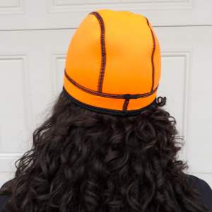 wetsuit beanie cap in orange