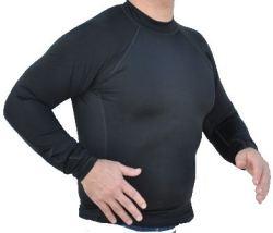 Men's Black, Long Sleeve, Rash Guard-No logo