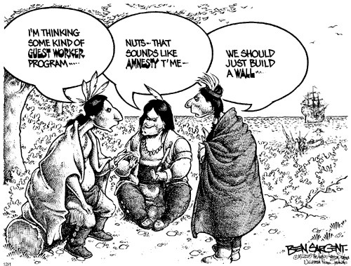 Native American Immigration Political Cartoon