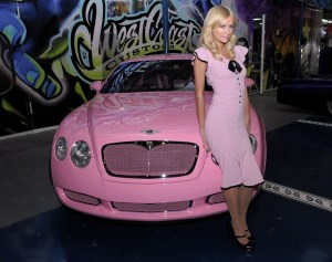 Paris Hilton and a custom Bentley