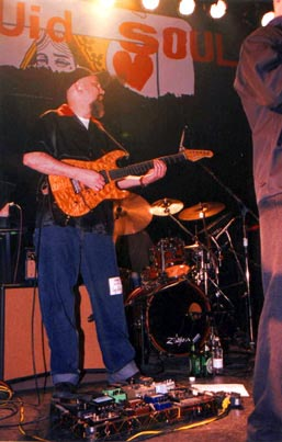 """Tommy Sanchez at the """"Here's the Deal"""" CD-release party, Metro, Chicago, Apr. 29, 2000 (Photo by Mike Rosley)."""