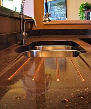 high end kitchen sinks cabinets design layout liquid stone studios | concrete countertops