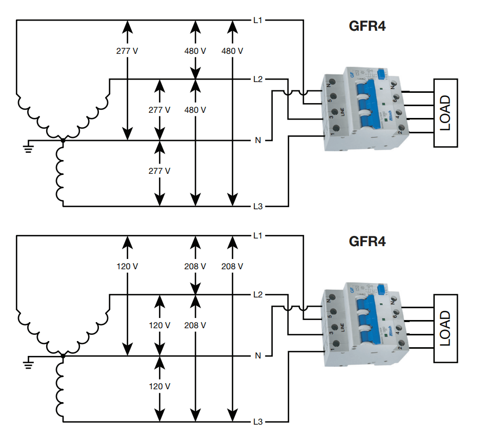 medium resolution of a schematic drawing of a gfci breaker
