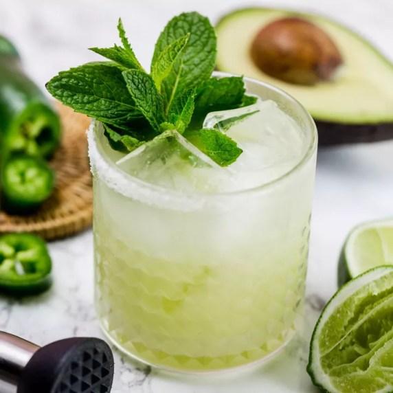 Spicy Mint Avocado Margarita