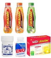 Lucozade, Grand-Pa, Eno, Med-Lemon