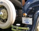 closeup of 1931 Ford Motor wheel