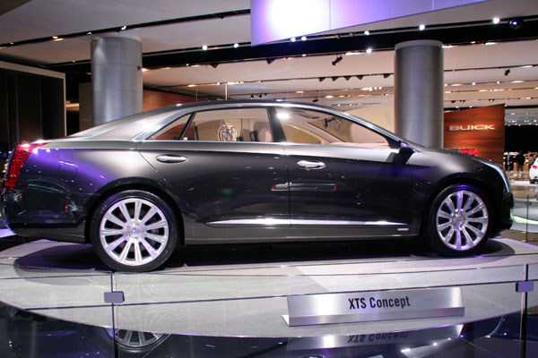 four-door deep slate gray 2011 Cadillac XTS Concept car