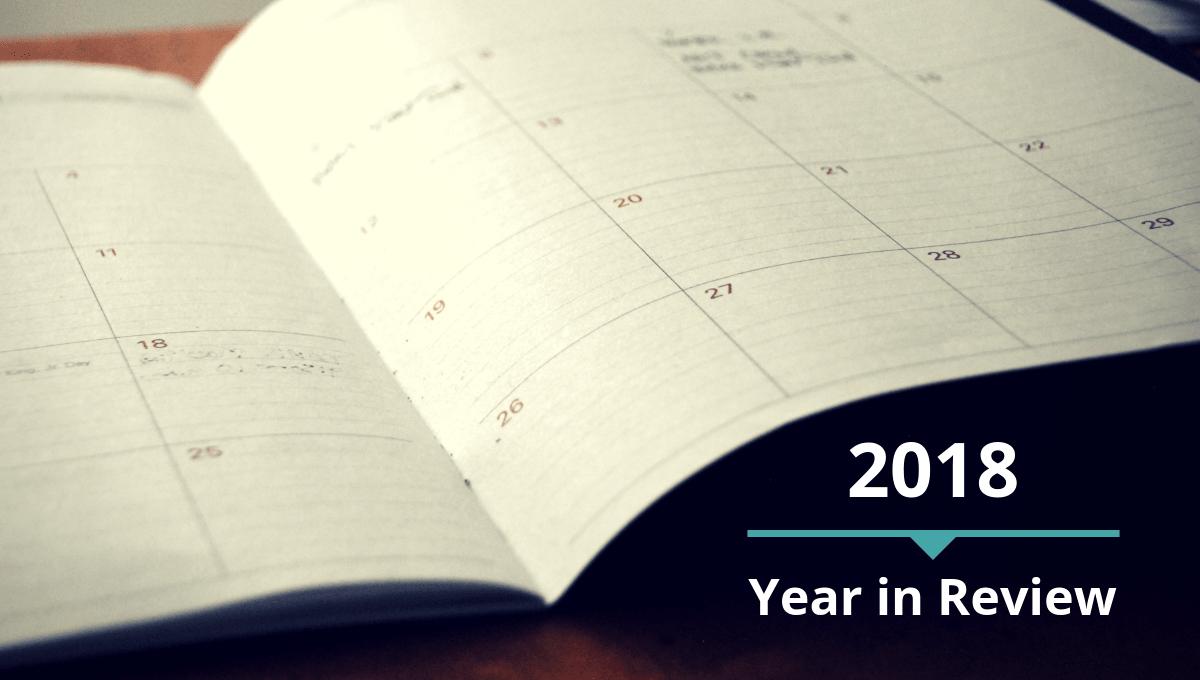 open paper monthly desk calendar
