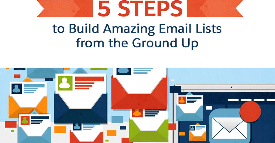 5 steps build amazing email lists from the ground up