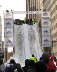 Ambassador Bridge snow slide