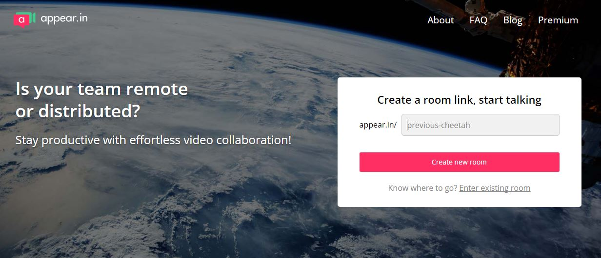 Is your team remote or distributed? Stay productive with effortless video collaboration. Create a room link, start talking with appear.in