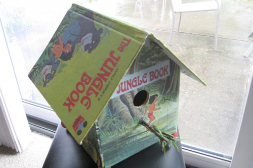 Jungle Book turned into a birdhouse