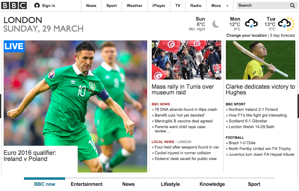 BBC home page