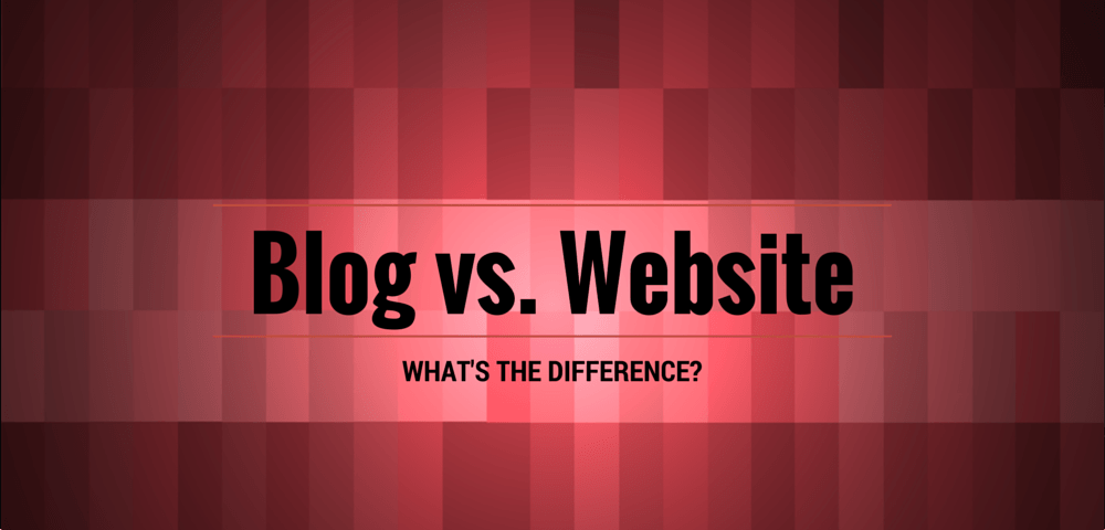 Blog vs website- what's the difference?