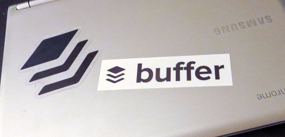 Buffer stickers on Chromebook