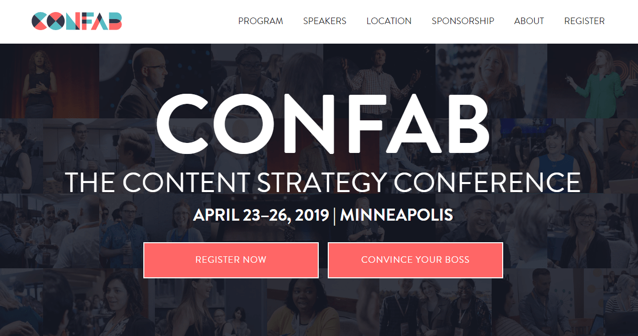 Confab Content Strategy Conference.