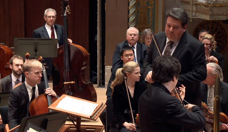 Violinist Augustin Hadelich performs at the Detroit Symphony Orchesta live webcast April 2014