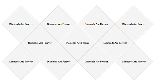 diamond grid created with CSS