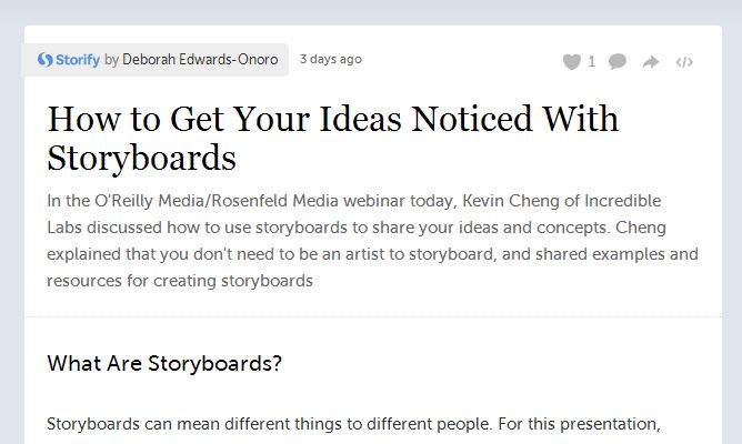 Get Noticed with Storyboards