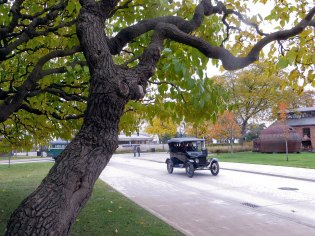 Model T's were traveling throughout the Village