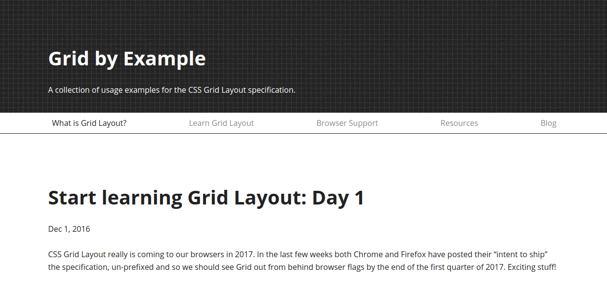2016 Grid by Example Advent Calendar
