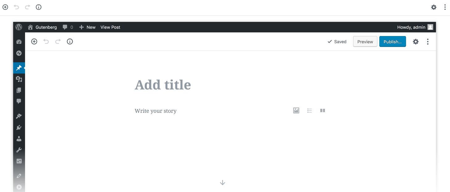 Gutenberg demo site to try out the new editing features