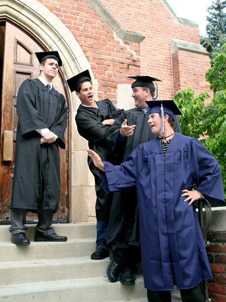 The four graduates: Brandon, Patrick, Aaron, and Curtis