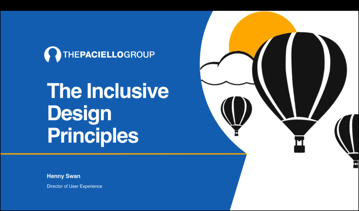 The Inclusive Design Principles
