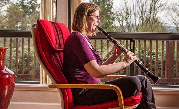 Jenny playing clarinet