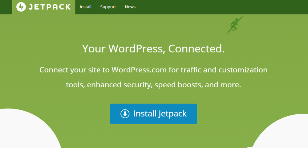 Using Jetpack without WordPress com