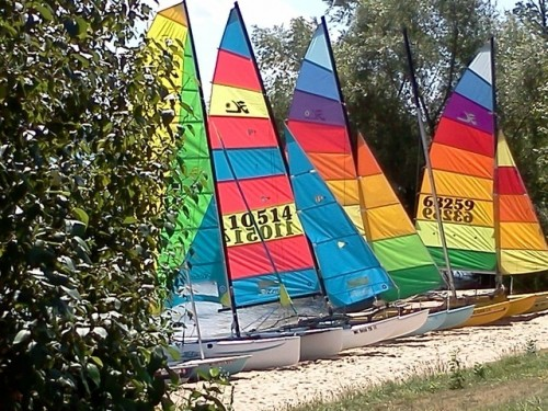 Sailing boats at Camp Michigania