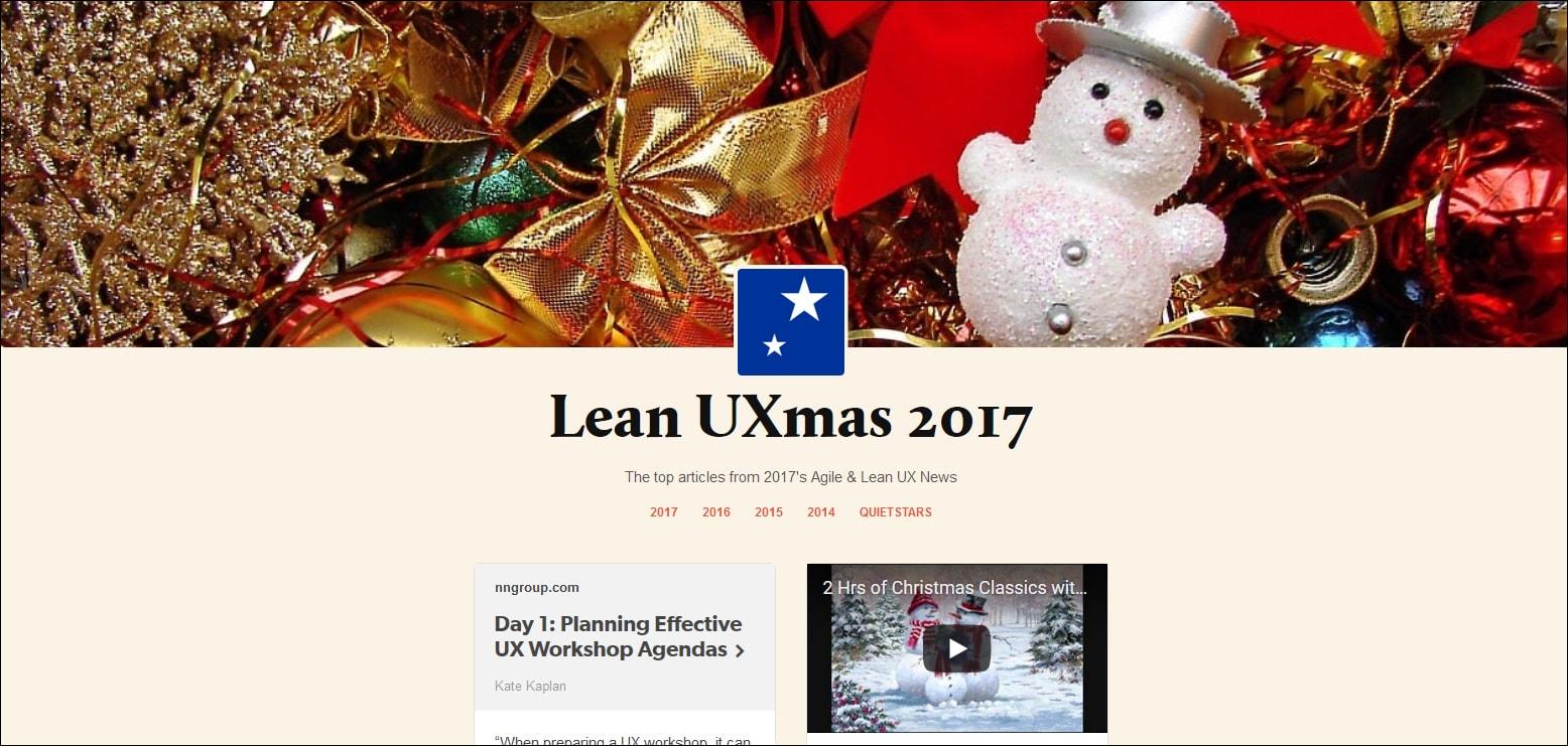Lean UX Advent Calendar 2017.