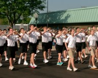 Local high school band at 2011 Plymouth Memorial Day Parade