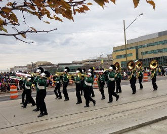 Marching Band in the Thanksgiving Day Parade in Detroit