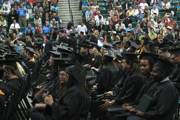graduates at Washtenaw Community College commencement
