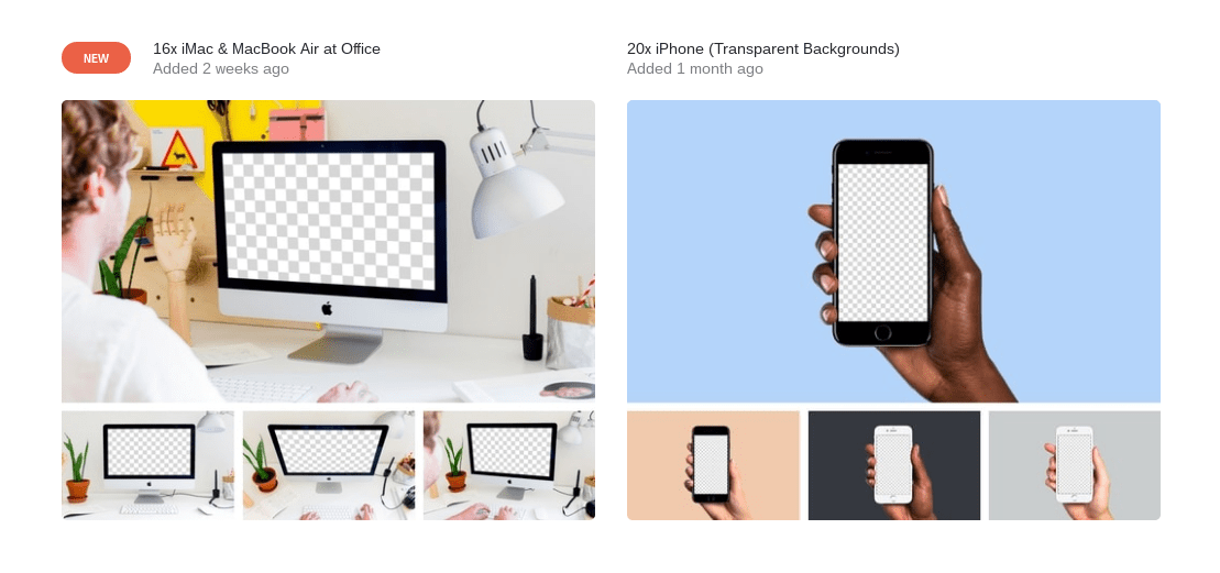 Mockuuups templates for iOS and iPhone