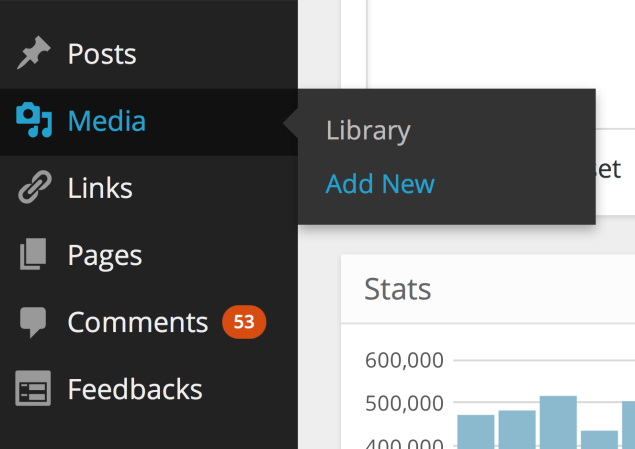New WordPress icons on the redesigned dashboard