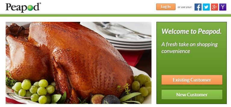 Peapod website home page