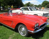 Red Chevrolet Corvette convertible