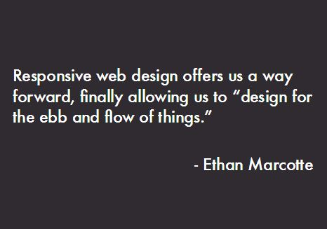 Quote from Ethan Marcotte: Responsive web design offers a way forward