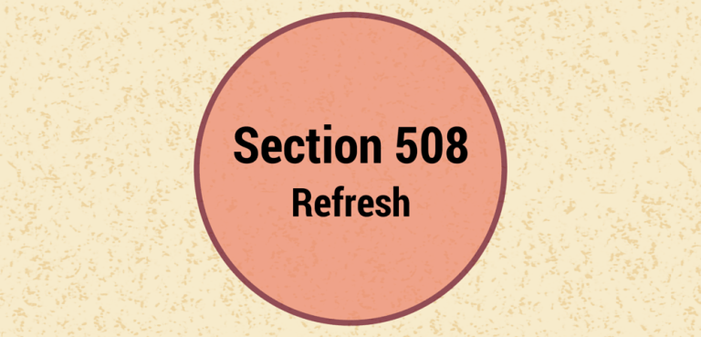 Section 508 Refresh