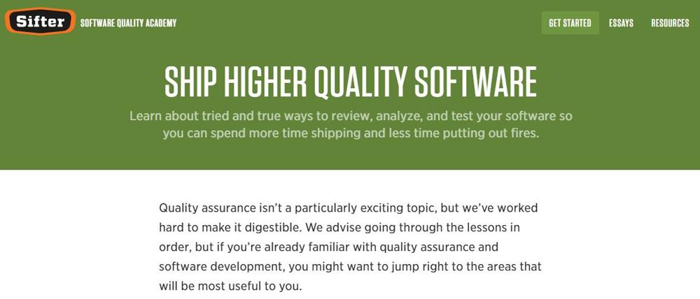 Sifter Software Quality Academy