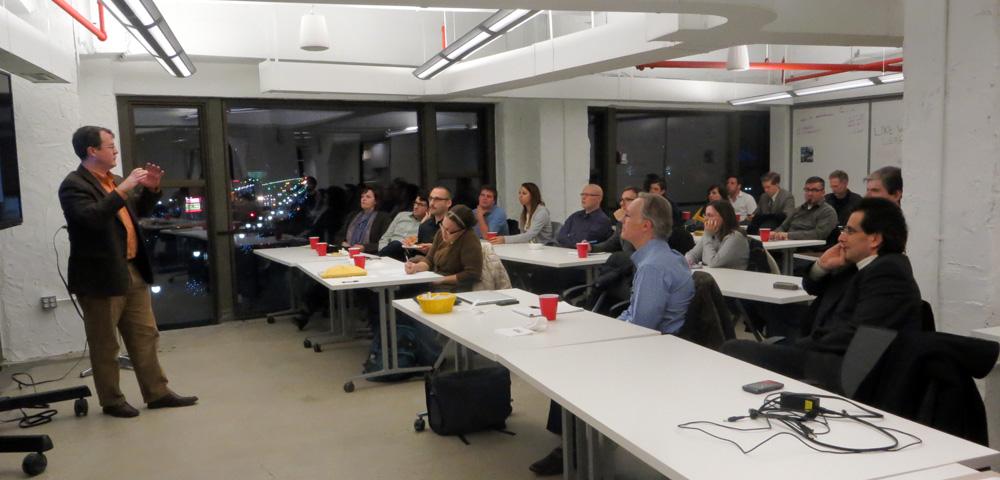 Steve Tengler speaking at World Usability Day 2013