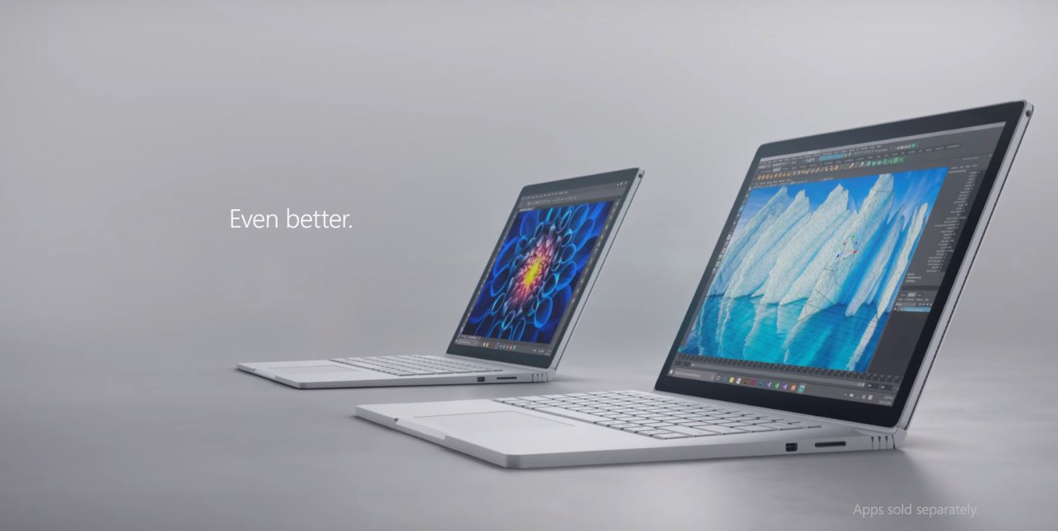 two Surface Book i7 laptops